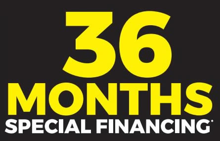 36 Months Special Financing