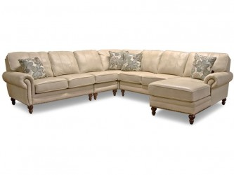 Leight Leather Sectional